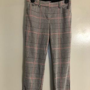 Skinny Plaid Pants